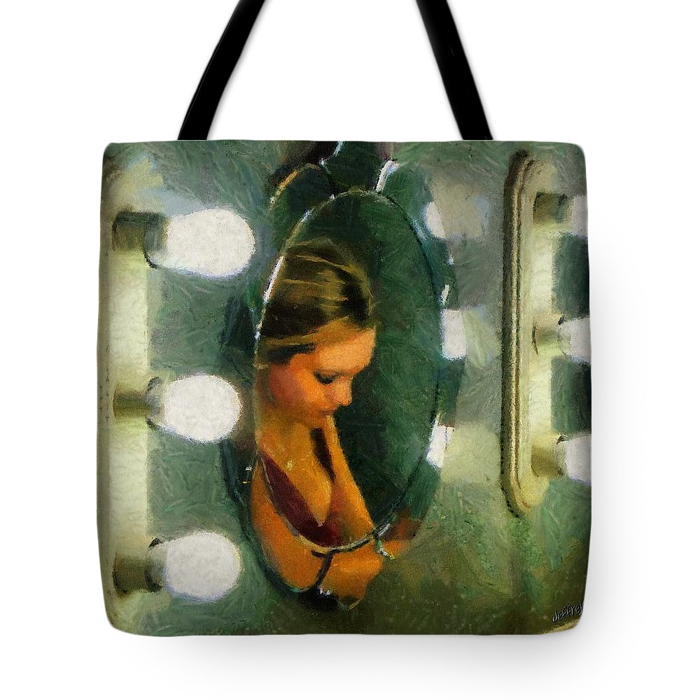 Bridesmaid Tote Bag featuring the painting Mirror Mirror On The Wall by Jeffrey Kolker