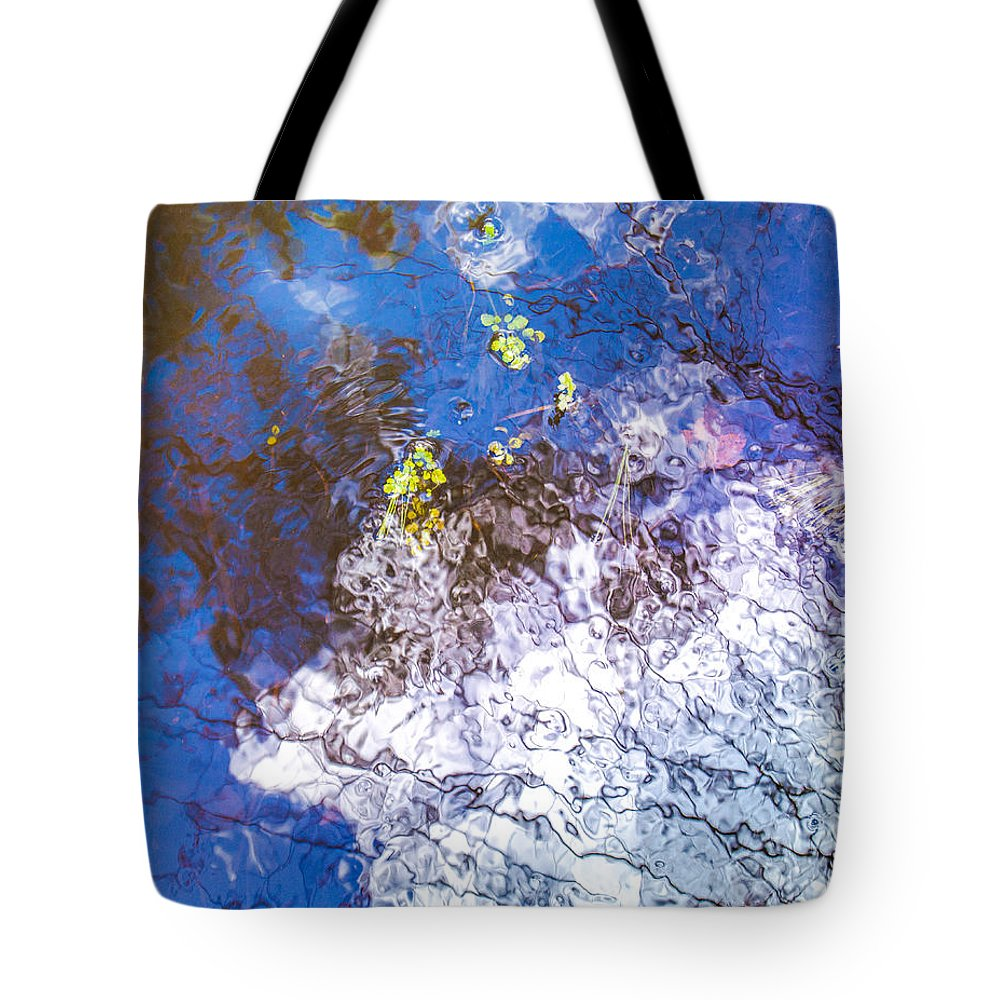 Reflection Tote Bag featuring the photograph Mirror The Sky by Sabrina Ramina