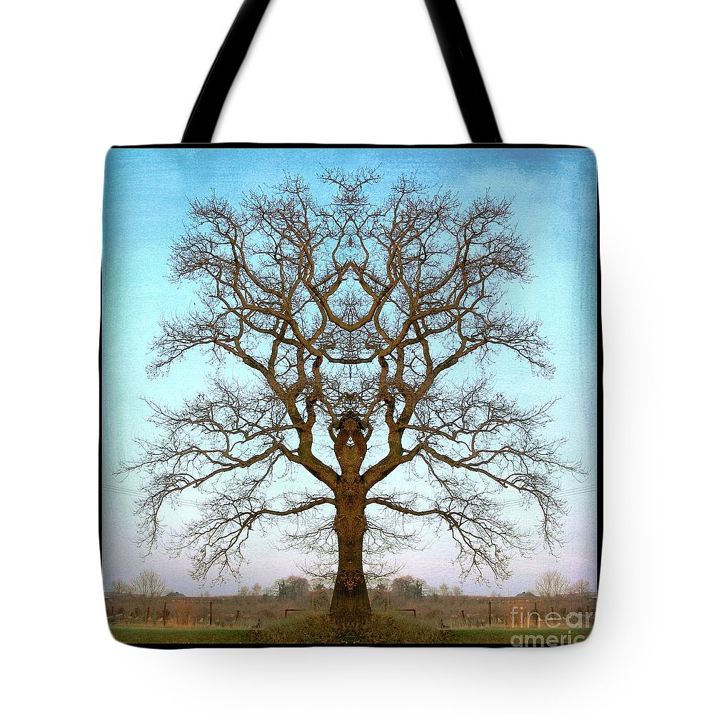 Tree Tote Bag featuring the photograph Mirror Tree by Digital Crafts