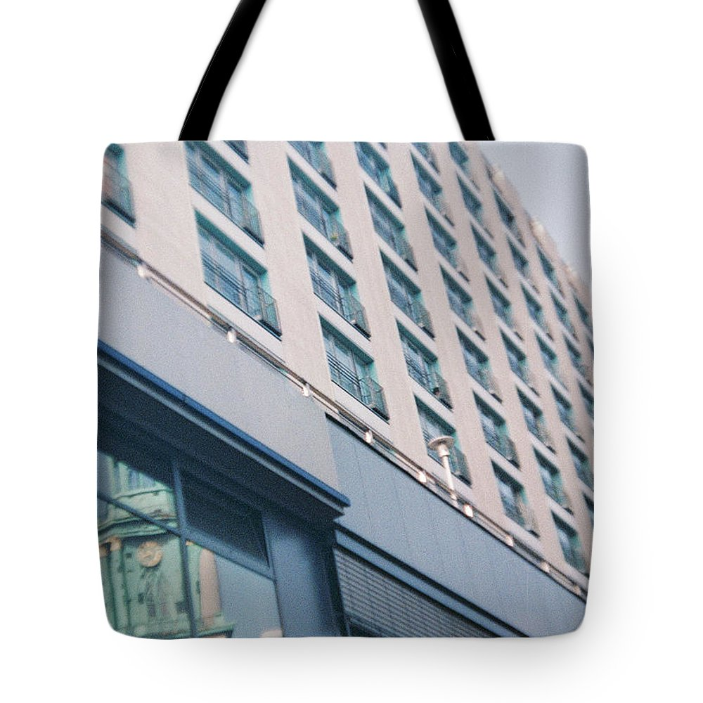 Mirrored Tote Bag featuring the photograph Mirrored Berlin by Nacho Vega