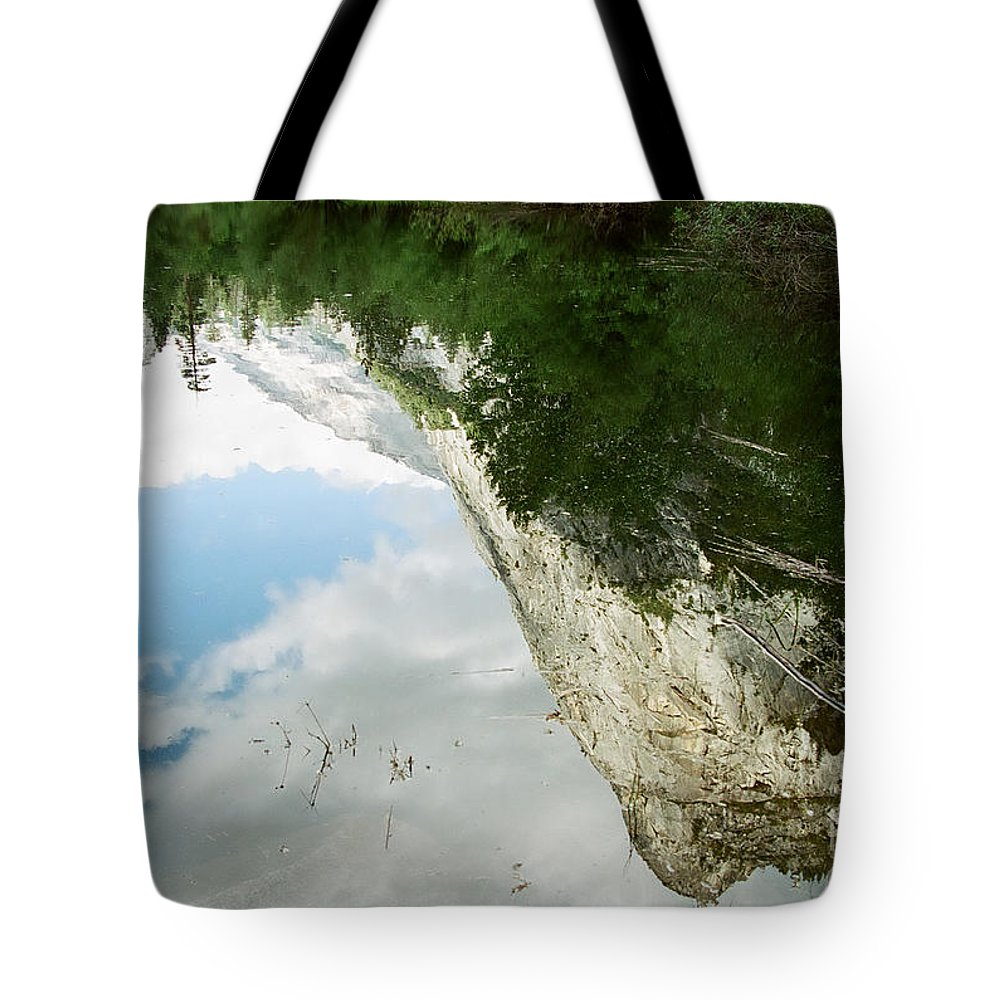 Mirror Lake Tote Bag featuring the photograph Mirrored by Kathy McClure