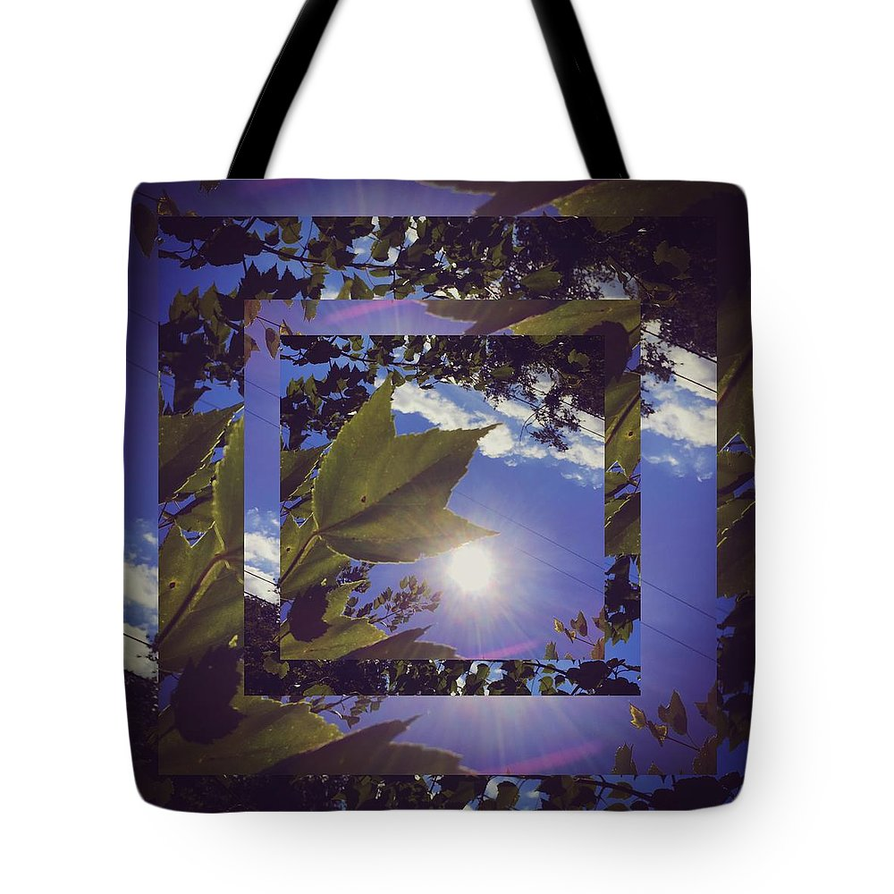 Mirror Tote Bag featuring the photograph Mirrored Leaf by Josh Tritz