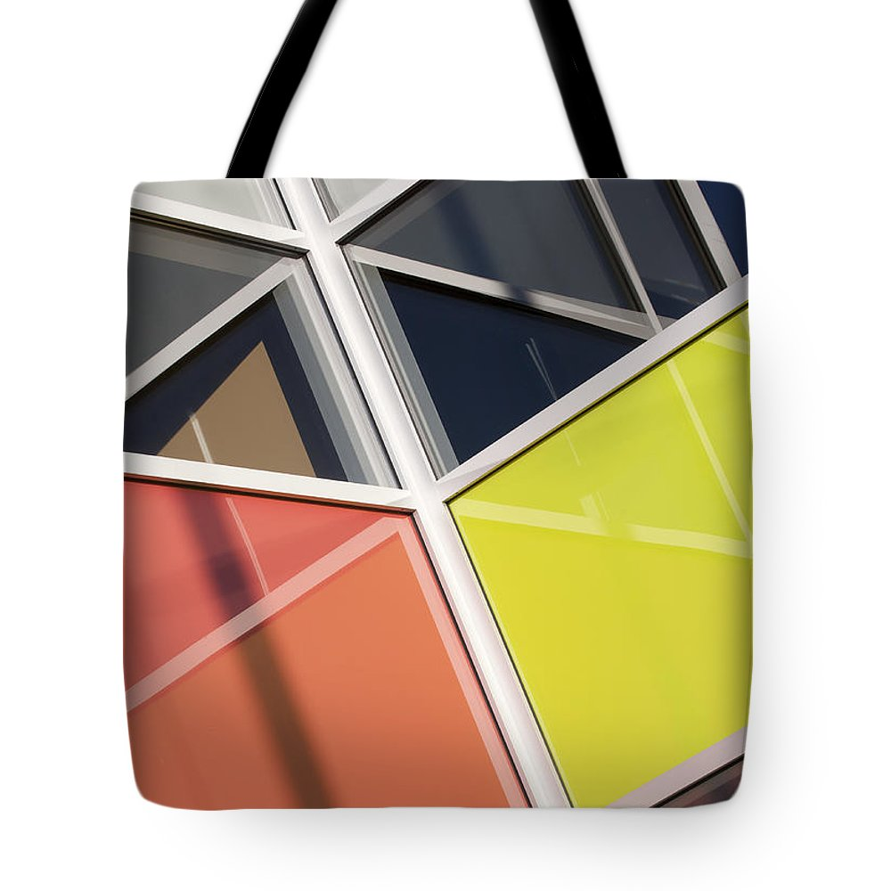 Glass Tote Bag featuring the photograph Mirrors II by Chris Dutton