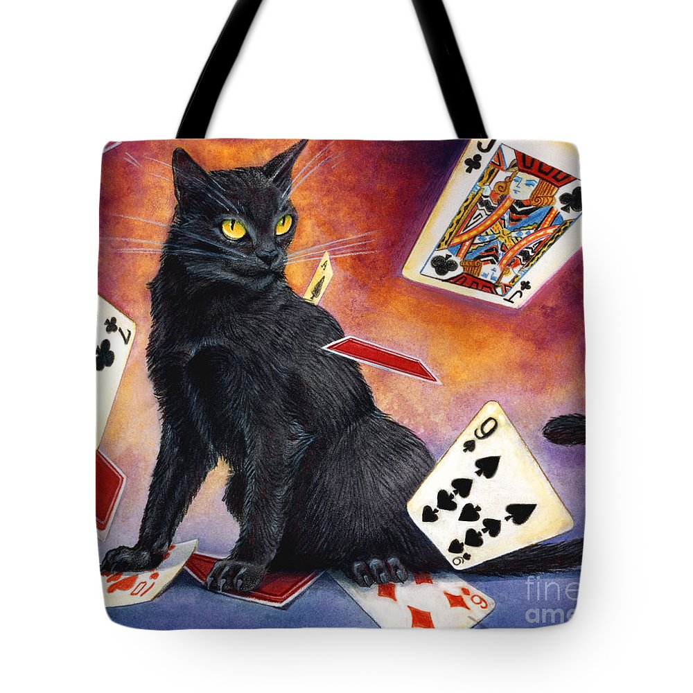 Cat Tote Bag featuring the painting Mischief Kitten by Melissa A Benson