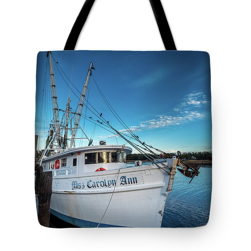 Shrimper Tote Bag featuring the photograph Miss Carolyn Ann by Gerald Monaco
