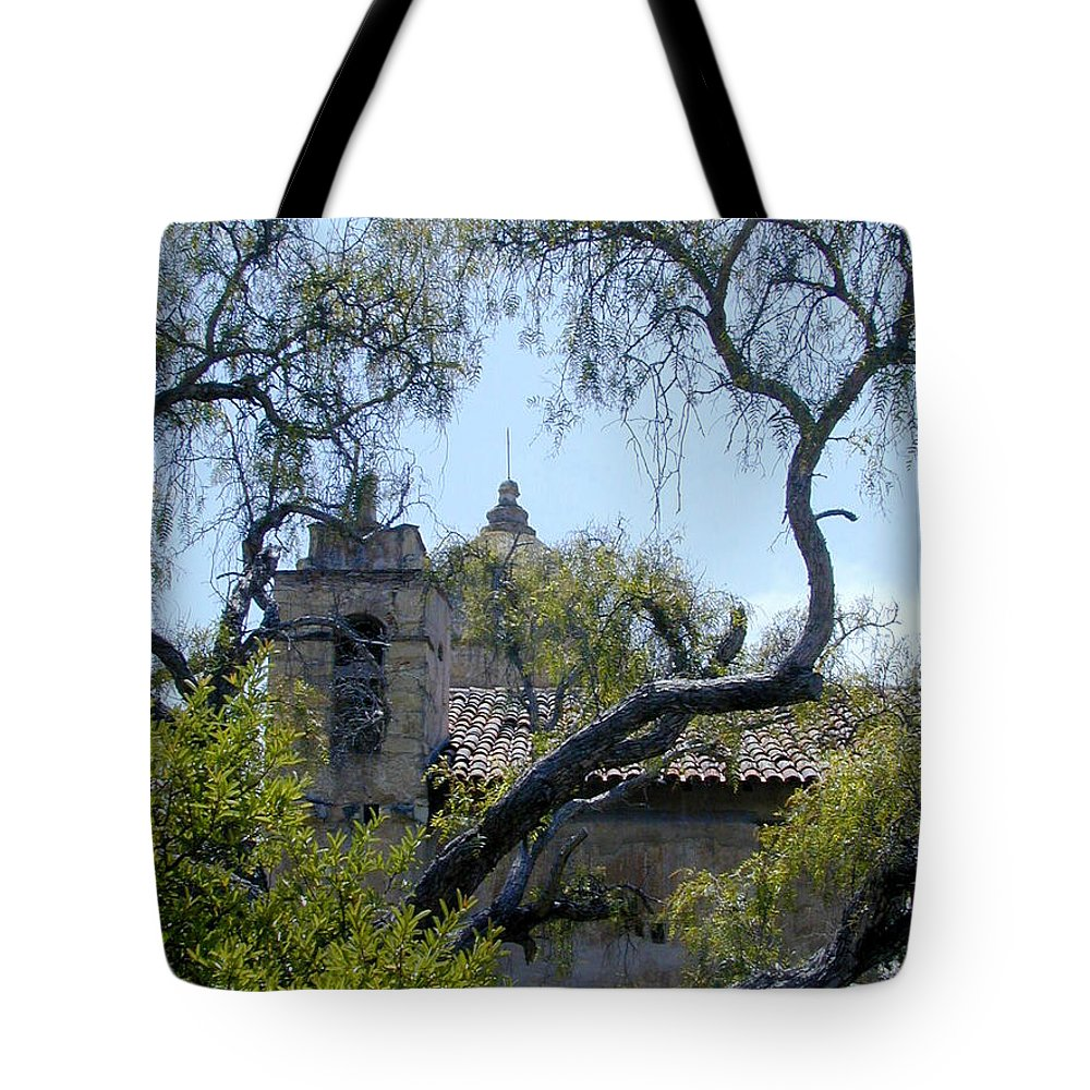 Mission Tote Bag featuring the photograph Mission At Carmell by Douglas Barnett
