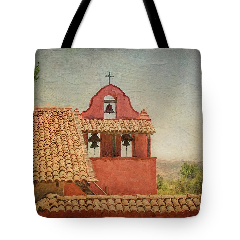 Mission Tote Bag featuring the photograph Mission Lapurisima by Joan Baker