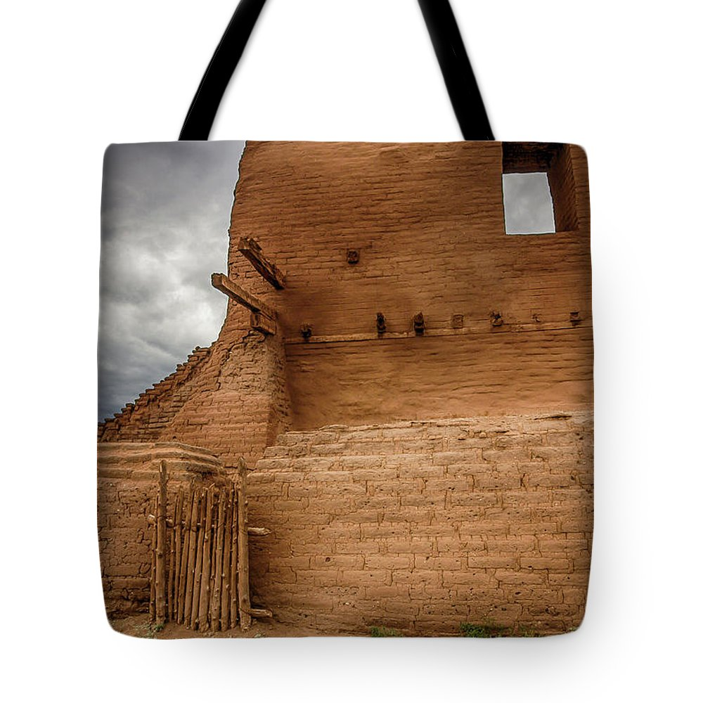 New Mexico Tote Bag featuring the photograph Mission Ruins by Bob Helmig