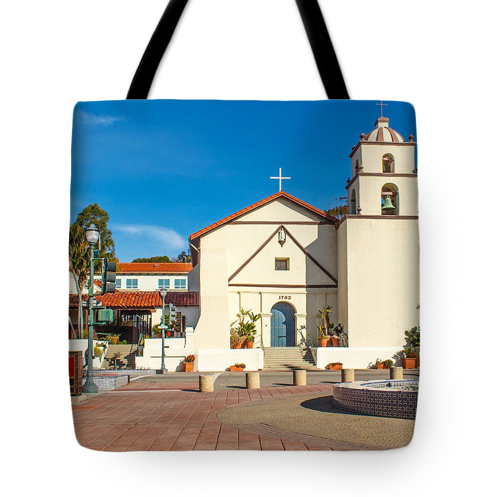 Photographs Tote Bag featuring the photograph Mission San Buenaventura by Danny Goen