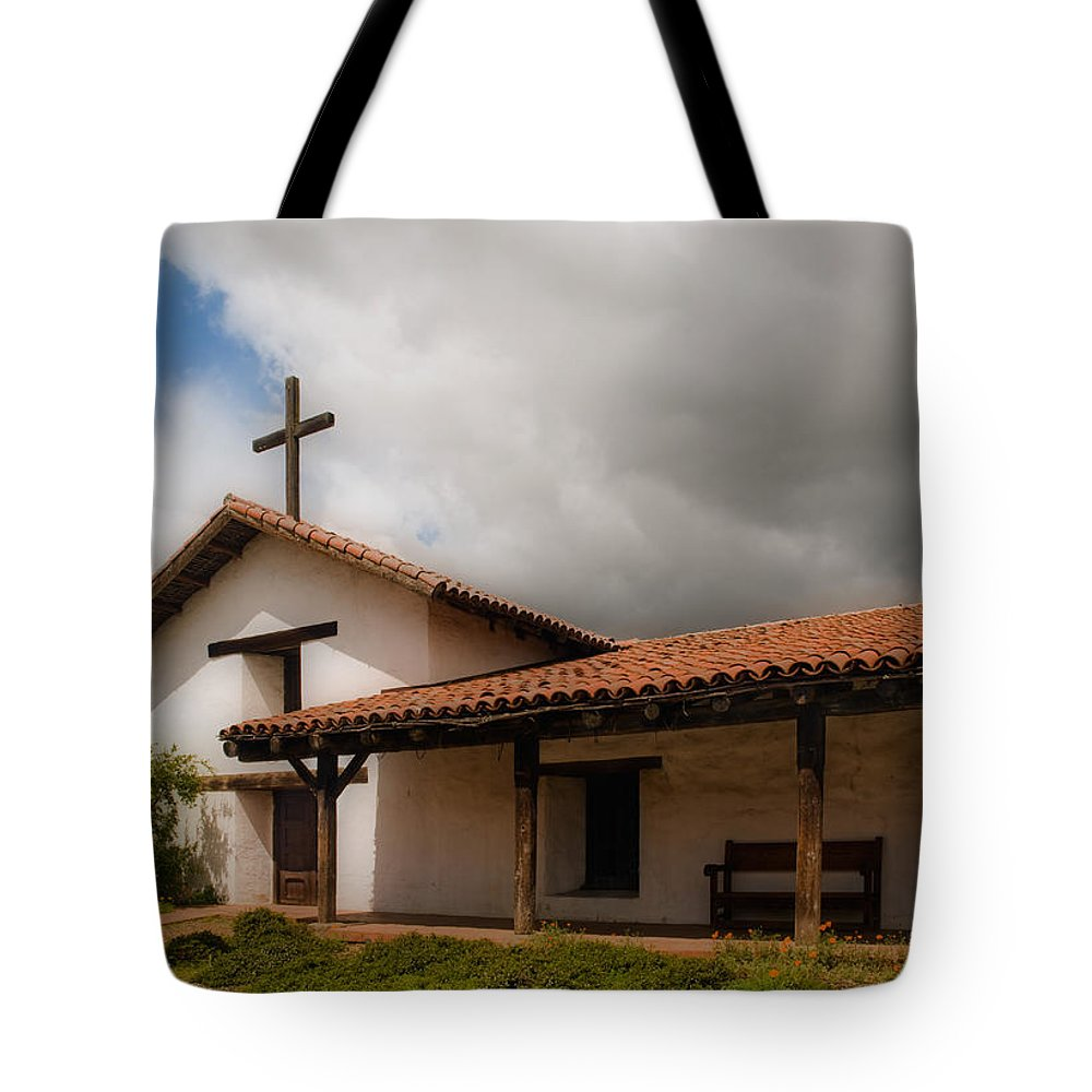 Mission Tote Bag featuring the photograph Mission San Francisco De Solano by Mick Burkey