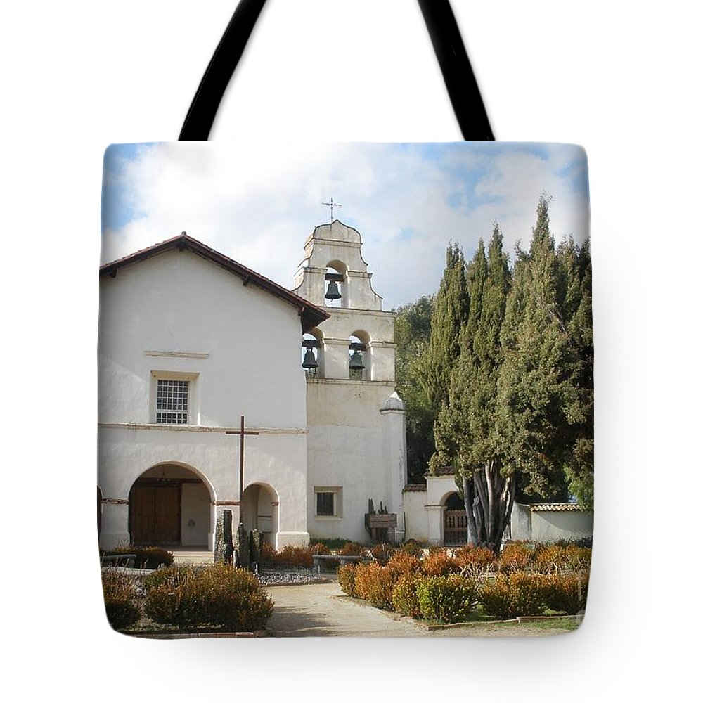 Misssion Tote Bag featuring the photograph Mission San Juan by Jeanie Watson
