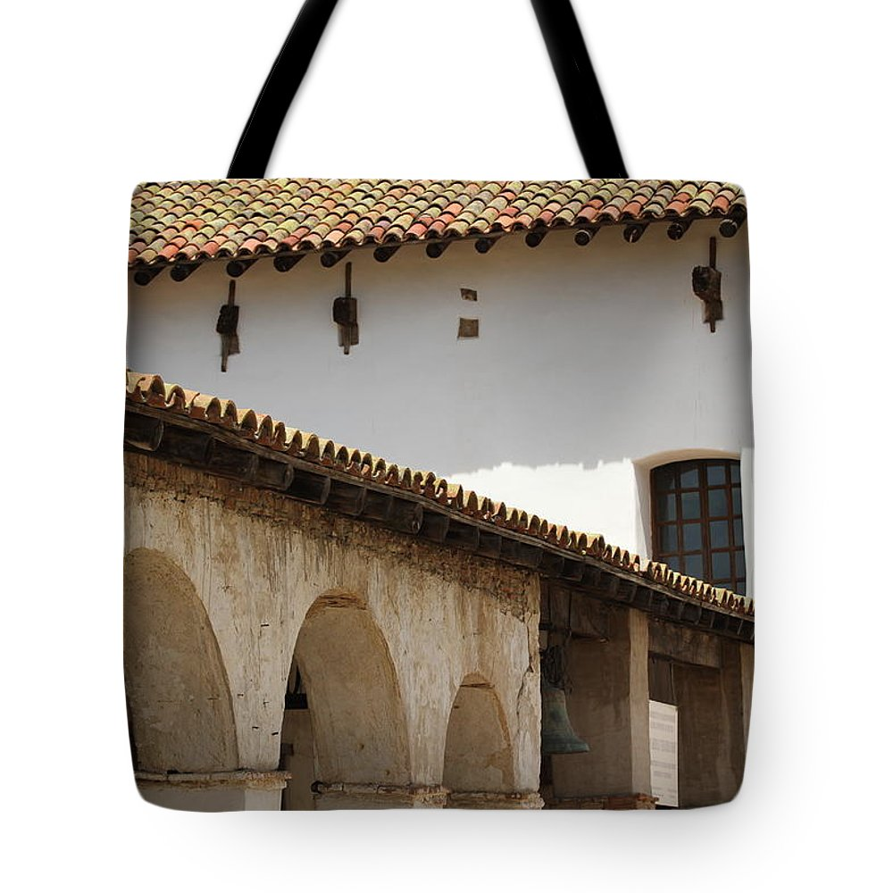 Mission San Luis Rey Tote Bag featuring the photograph Mission San Luis Rey by Mary Ourada