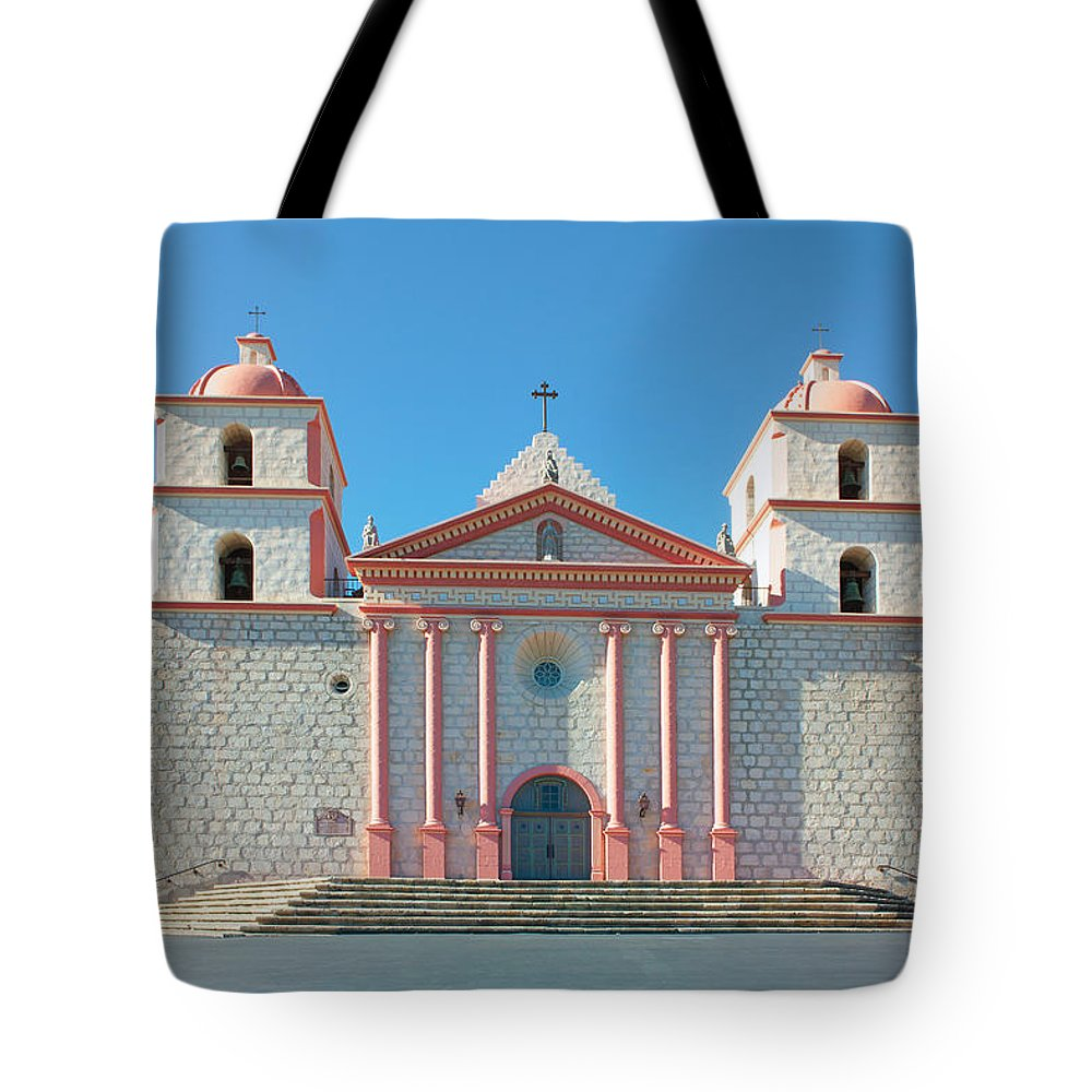 Mission Tote Bag featuring the photograph Mission Santa Barbara by Ram Vasudev