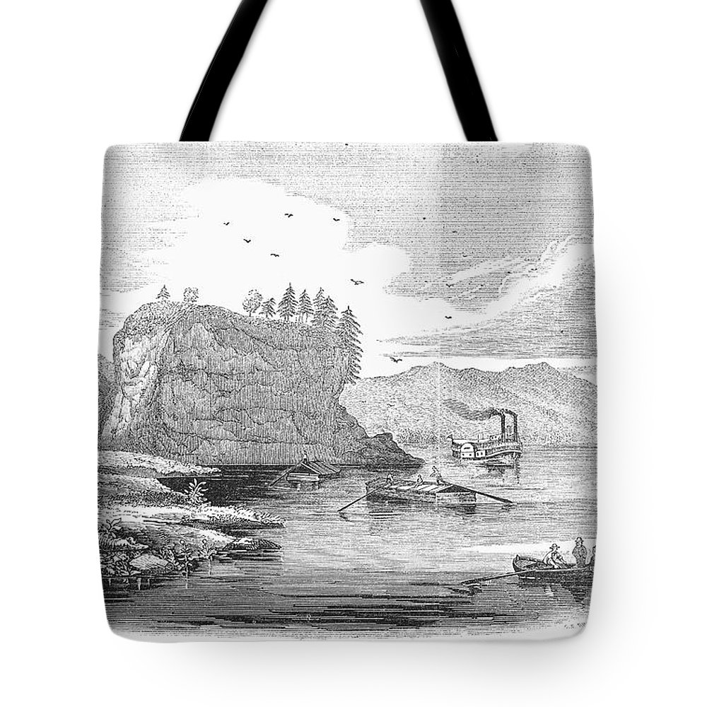1854 Tote Bag featuring the photograph Mississippi River, 1854 by Granger