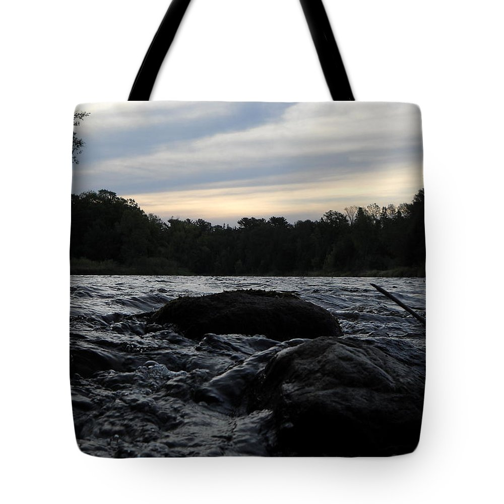 Mississippi River Tote Bag featuring the photograph Mississippi River Dawn Sky by Kent Lorentzen