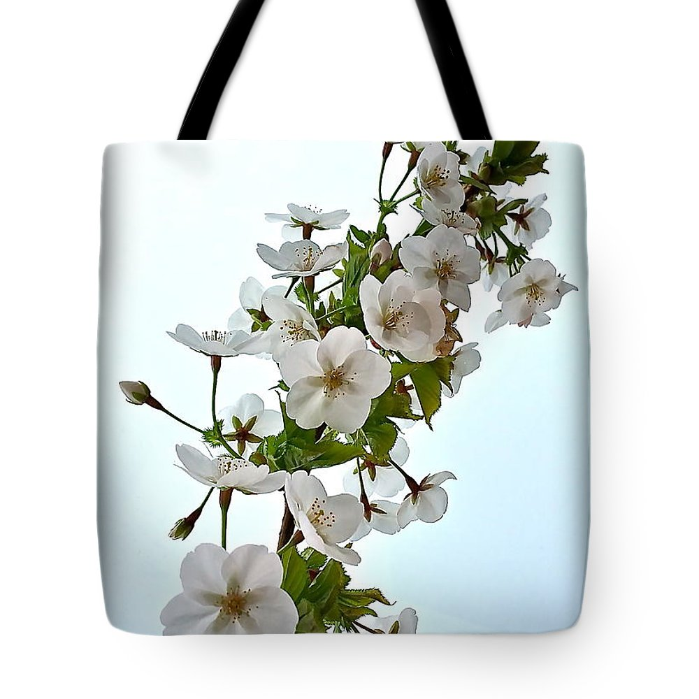 Missouri State Flower White Hawthorn Blossoms Tote Bag For Sale By