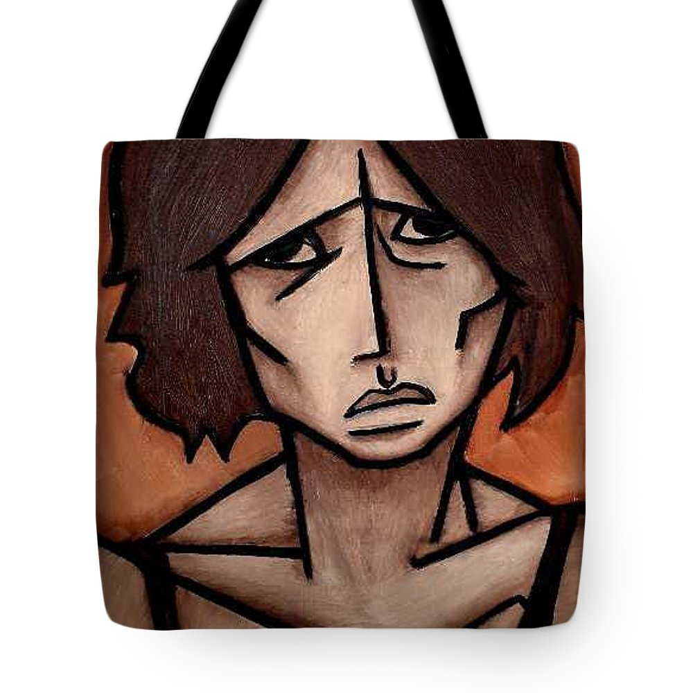 Potrait Tote Bag featuring the painting Missy by Thomas Valentine
