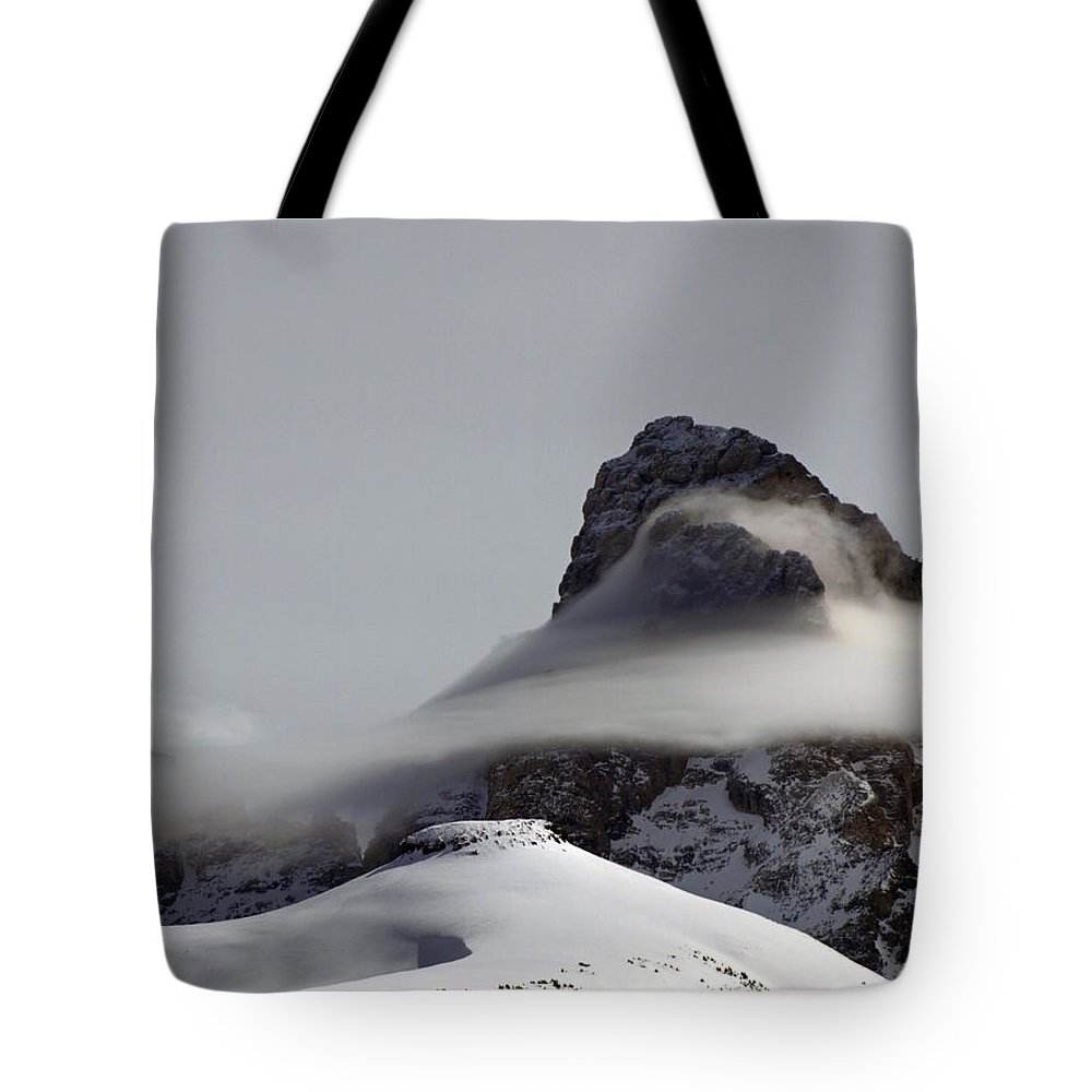 Landscape Tote Bag featuring the photograph Mist Embraces The Grand by DeeLon Merritt