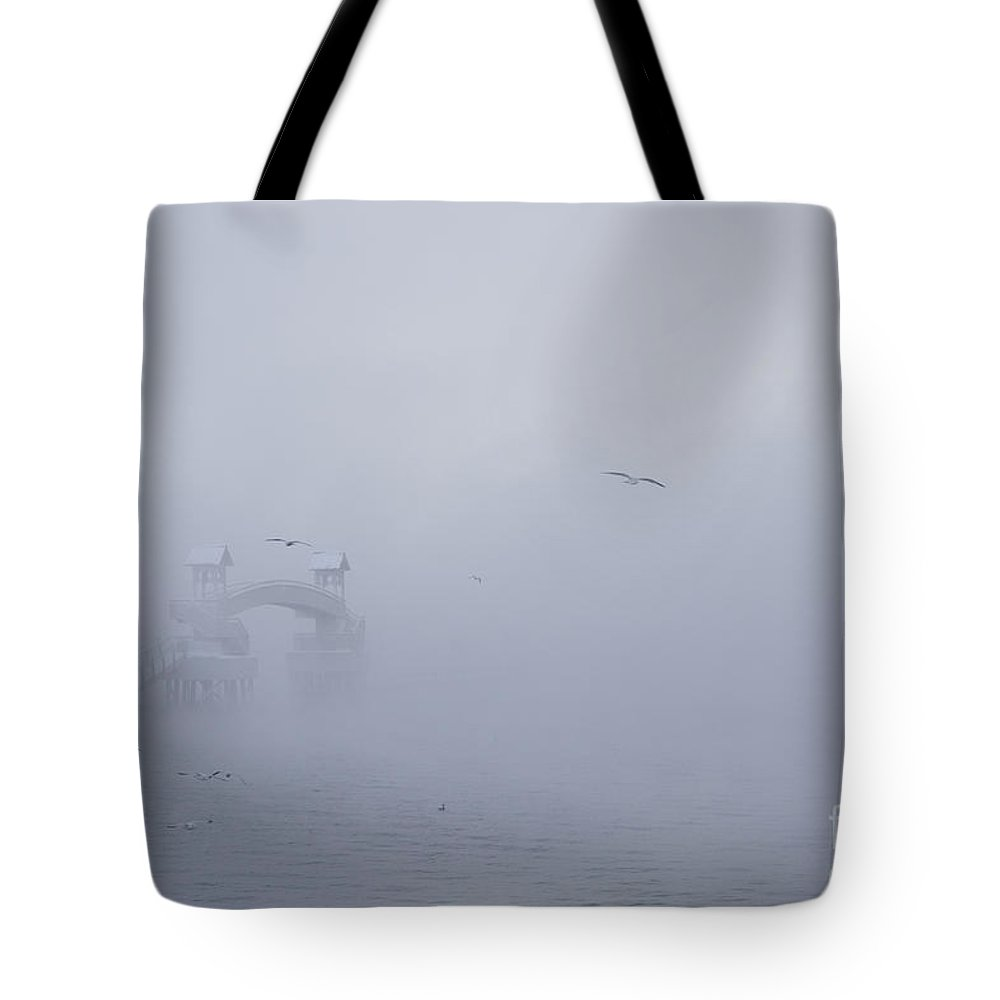 Coeur D'alene Tote Bag featuring the photograph Mist by Idaho Scenic Images Linda Lantzy