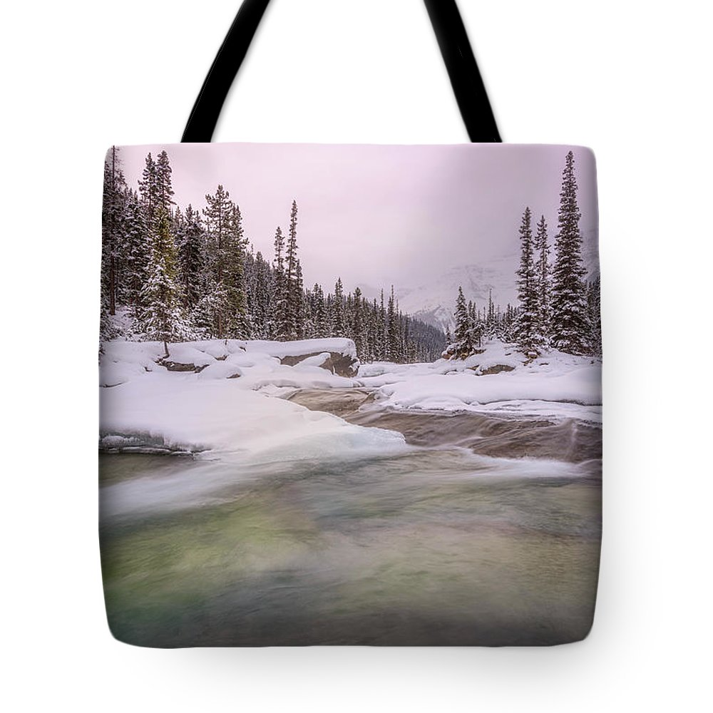 Forest Tote Bag featuring the photograph Mistaya Canyon by Yves Gagnon