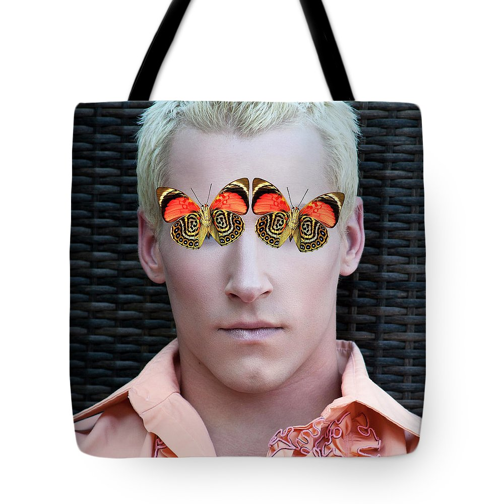 Blond Tote Bag featuring the photograph Mister Butterfly Palm Springs by William Dey