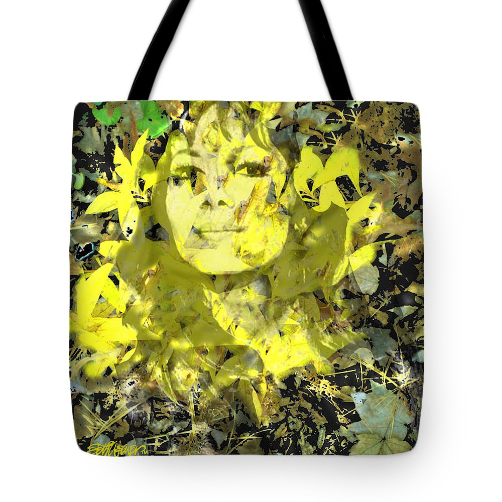 Mistress Of Autumn Tote Bag featuring the digital art Mistress of Autumn by Seth Weaver