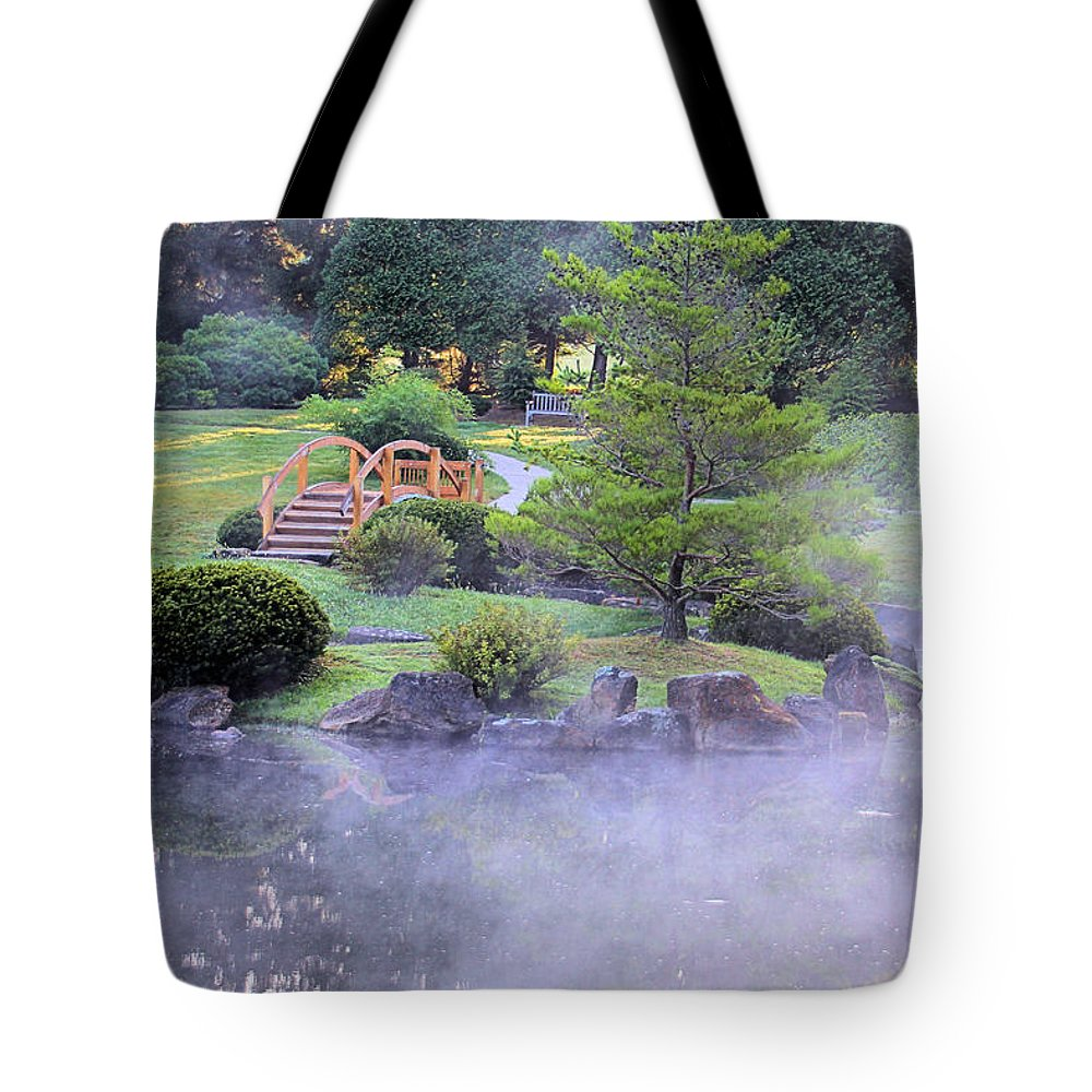 Mist Tote Bag featuring the photograph Misty Garden by Gary Wilson