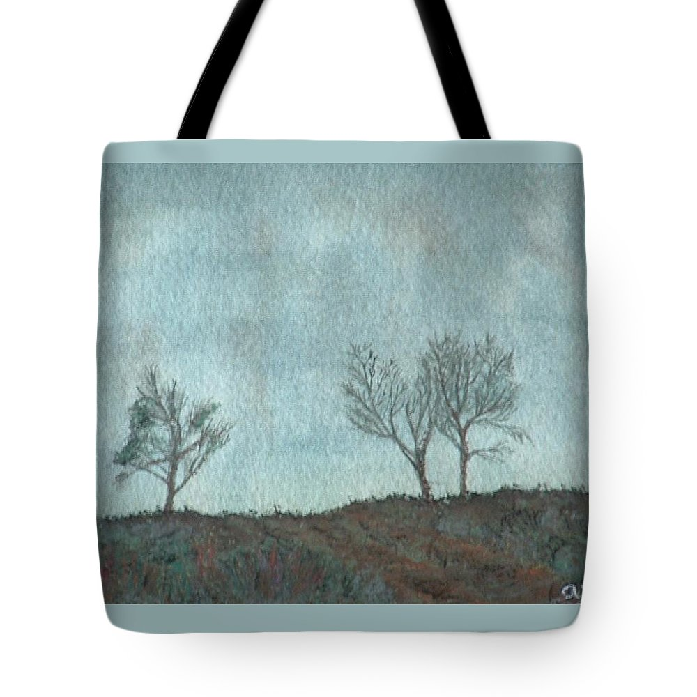Landscape Tote Bag featuring the painting Misty Morning by Lynn ACourt