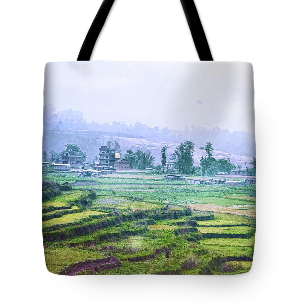 Landscape Tote Bag featuring the photograph Misty Morning by Rochak Timilsina