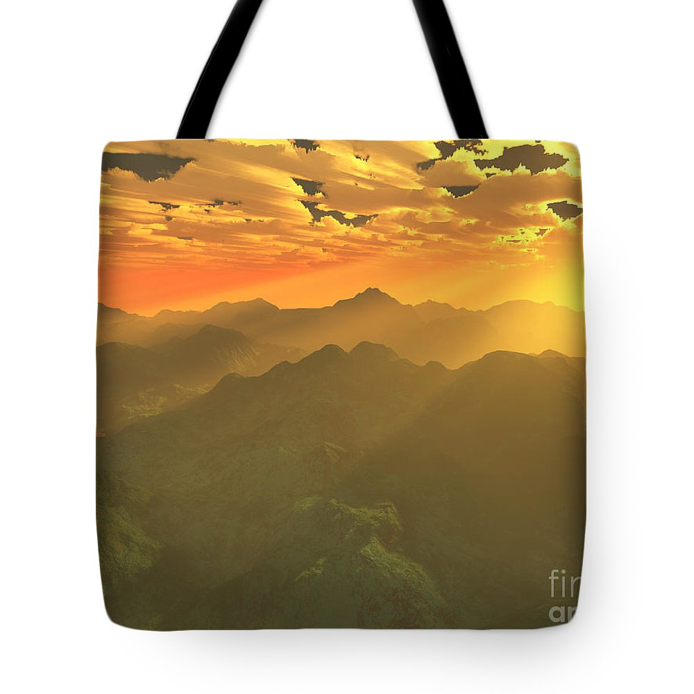 Computer Art Tote Bag featuring the digital art Misty Mornings In Neverland by Gaspar Avila