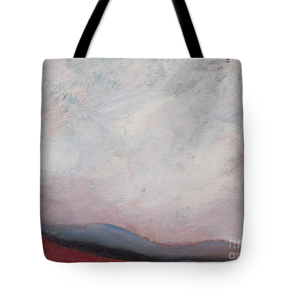 Abstract Tote Bag featuring the painting Misty October by Vesna Antic