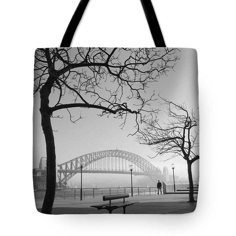 Sydney Harbour Bridge Mist Australia Tote Bag featuring the photograph Misty Sydney Morning by Sheila Smart Fine Art Photography