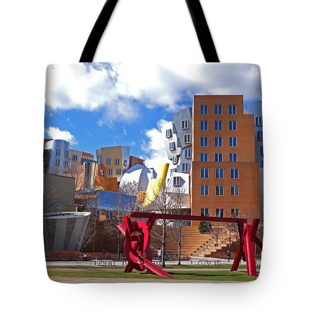 Mit Tote Bag featuring the photograph Mit Stata Center Cambridge Ma Kendall Square M.i.t. Sculpture by Toby McGuire