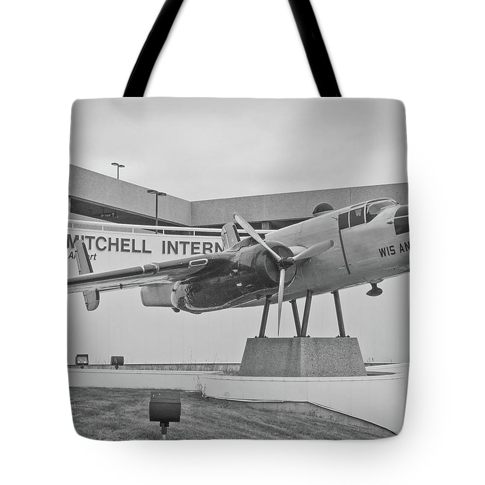 North Amerian B-25 Mitchell Tote Bag featuring the photograph Mitchell International Airport by Tommy Anderson