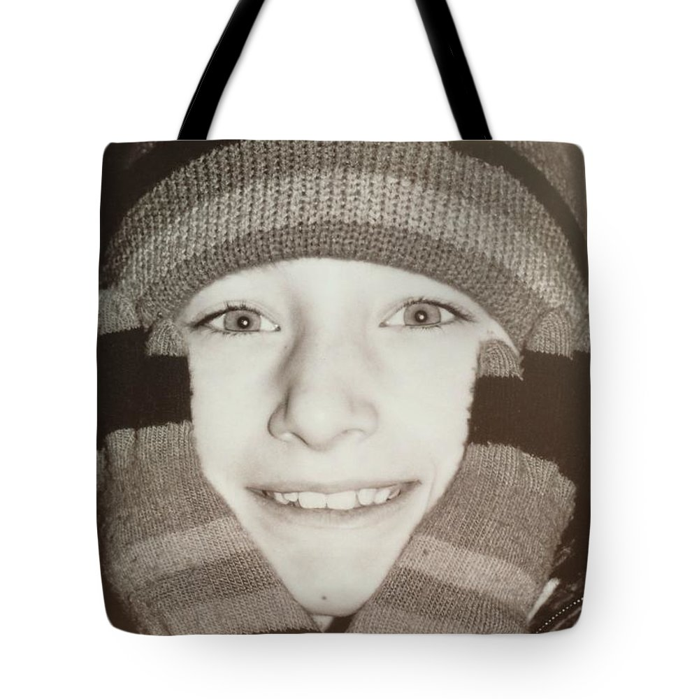 Mittens Tote Bag featuring the photograph Mittens Quote by JAMART Photography