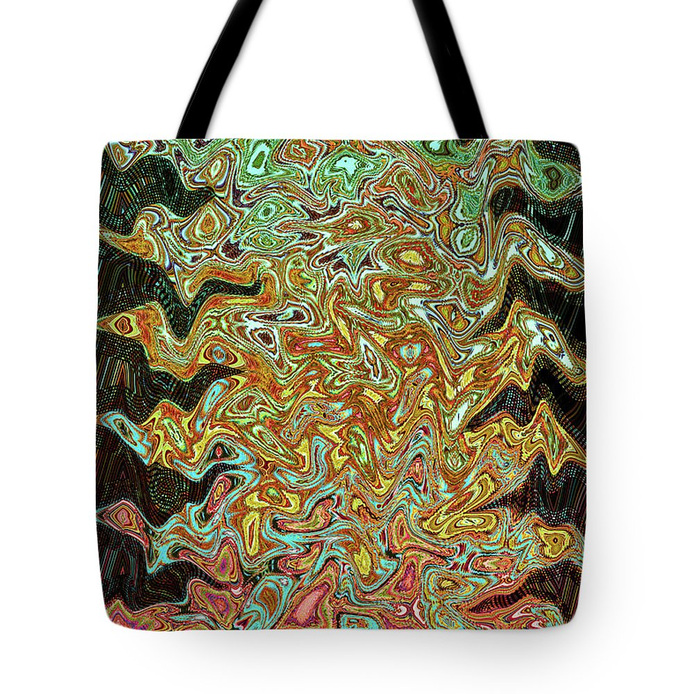 Mix And Mash Tote Bag featuring the digital art Mix And Mash by Tom Janca