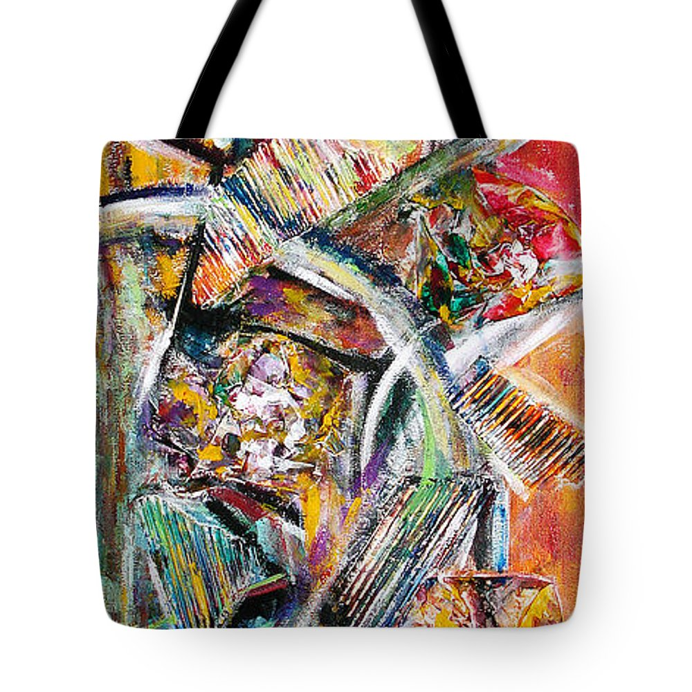 Color Abstract Tote Bag featuring the painting Mix And Match by Yael VanGruber
