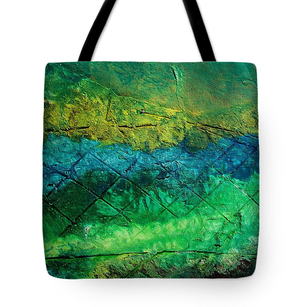 Contemporary Tote Bag featuring the painting Mixed Media 02 By Rafi Talby by Rafi Talby