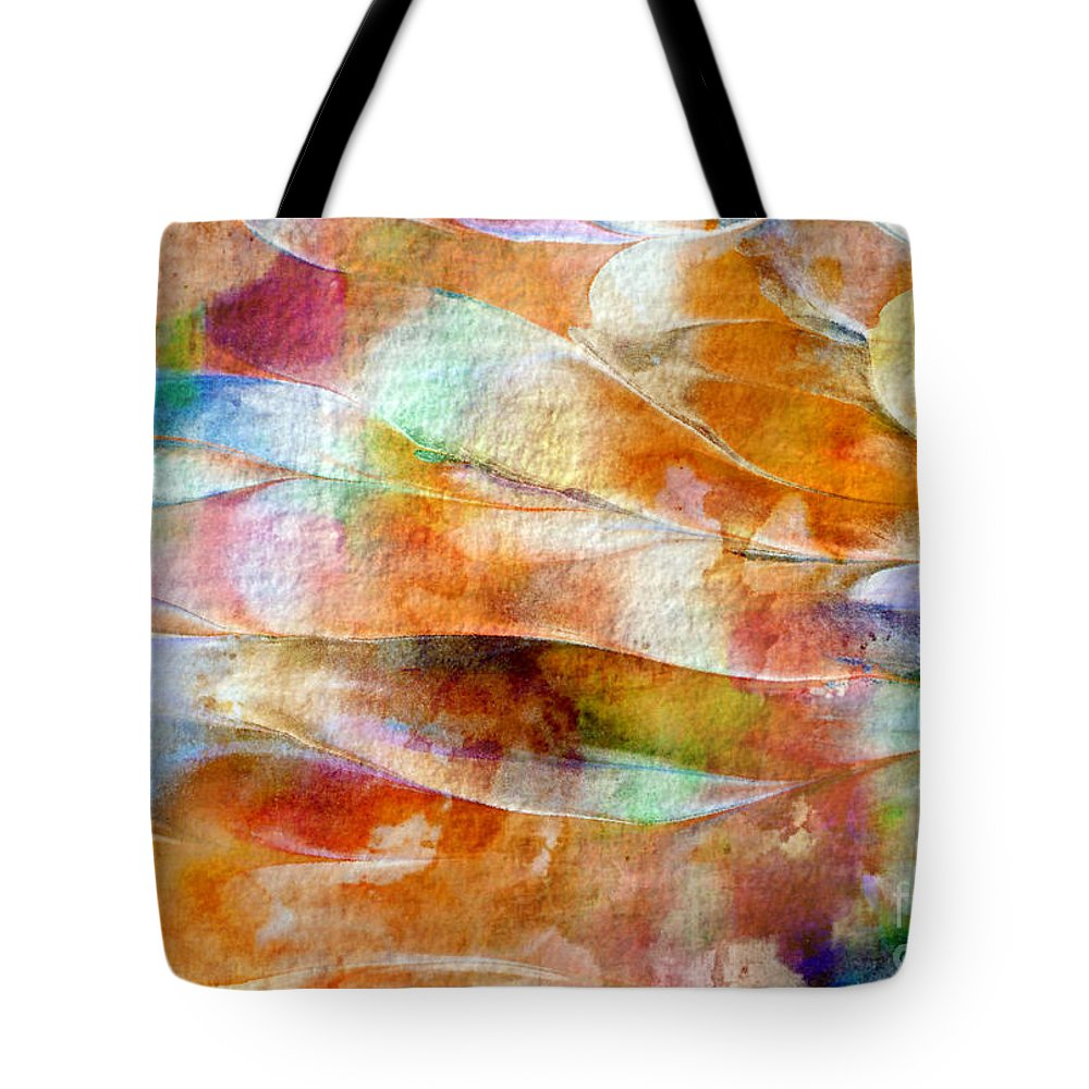 Abstract Tote Bag featuring the painting Mixed Media Abstract B31015 by Mas Art Studio