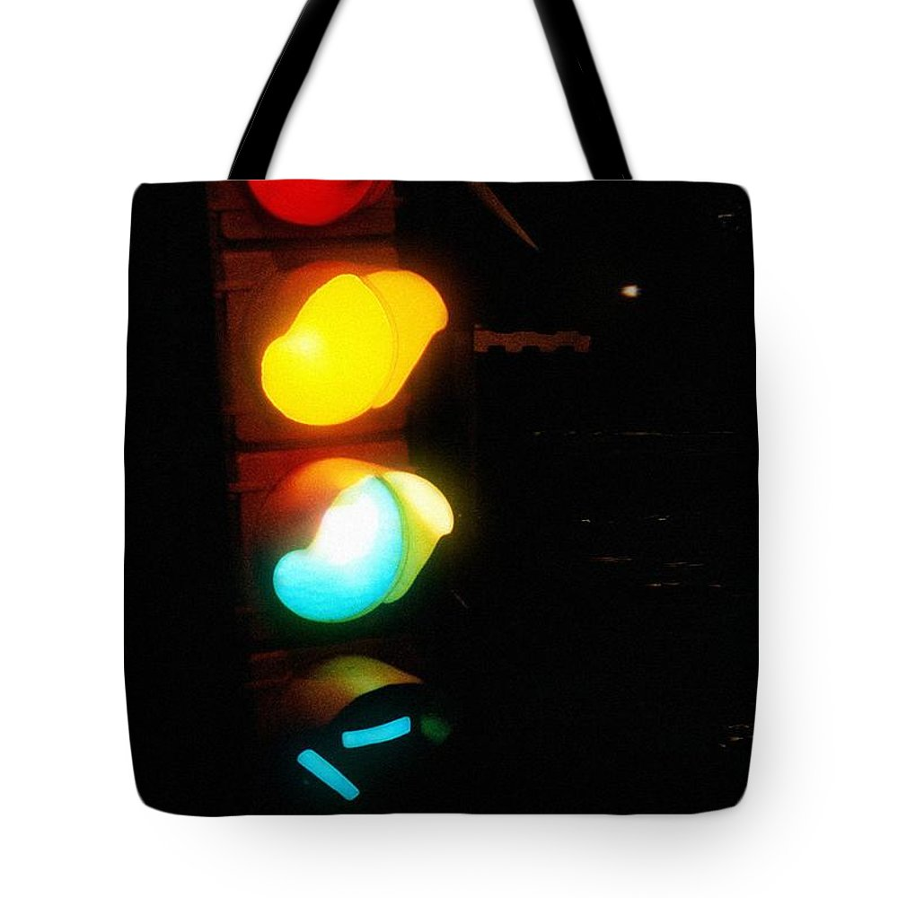 Contemporary Tote Bag featuring the photograph Mixed Signals by RC DeWinter
