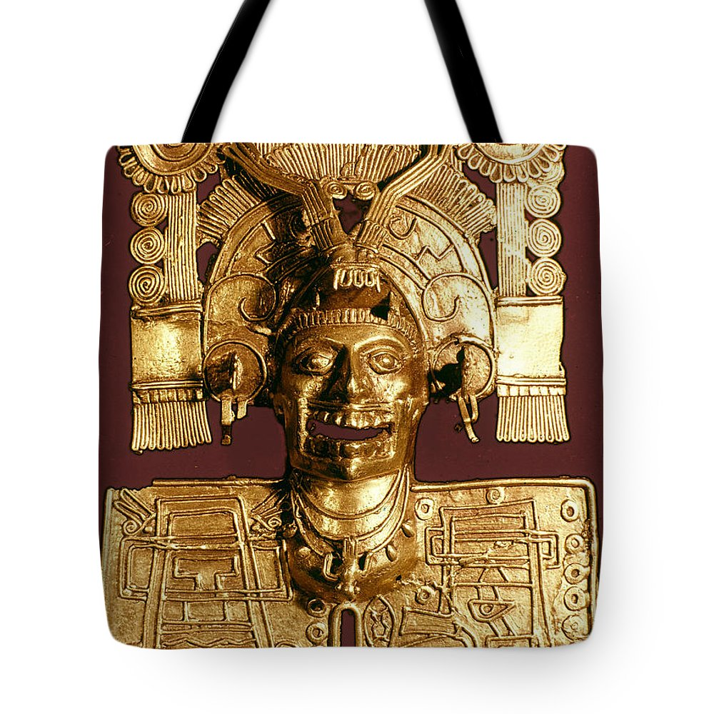 1400 Tote Bag featuring the photograph Mixtec: God Of The Dead by Granger