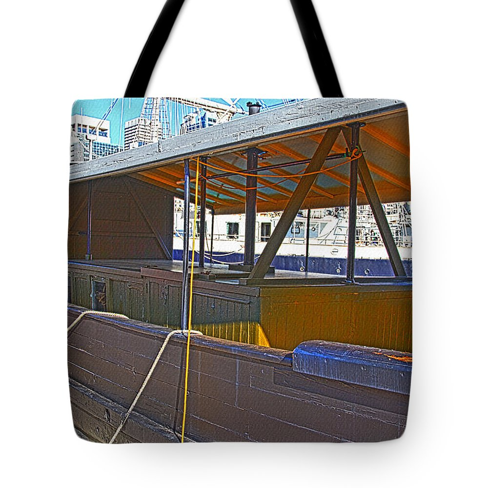 Krait Tote Bag featuring the photograph Mv Krait In Darling Harbour Sydney by Miroslava Jurcik