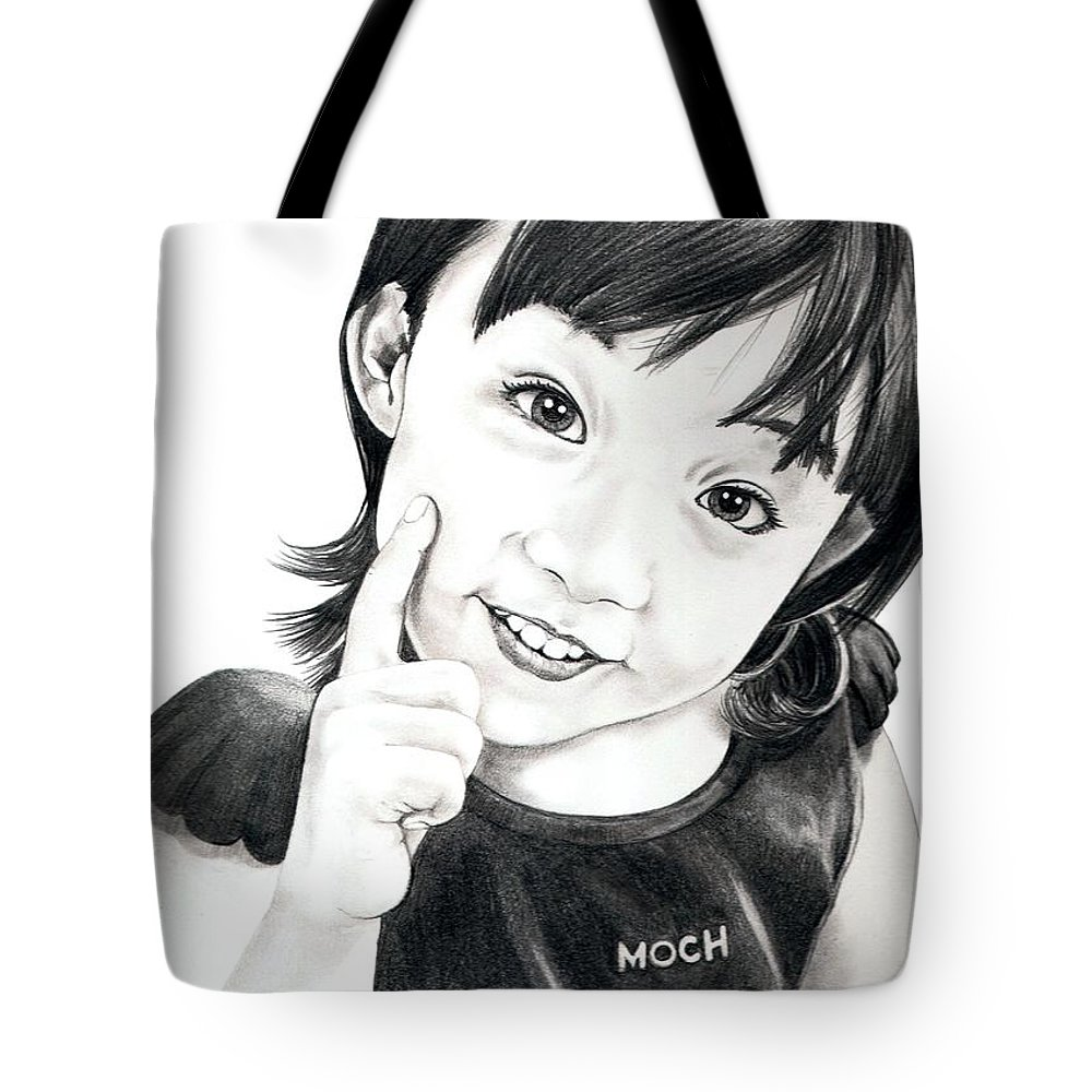 Pencil Tote Bag featuring the drawing Moch by Murphy Elliott