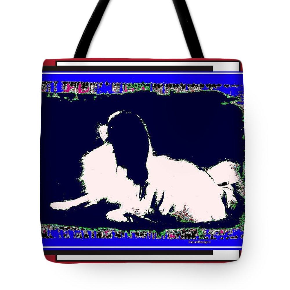 Mod Dog Tote Bag featuring the digital art Mod Dog by Kathleen Sepulveda