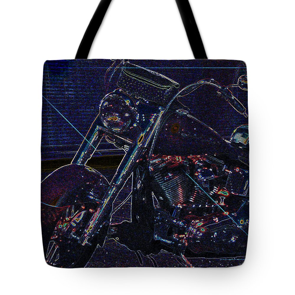 Motorcycle Tote Bag featuring the photograph Mod-orcycle by Gary Adkins