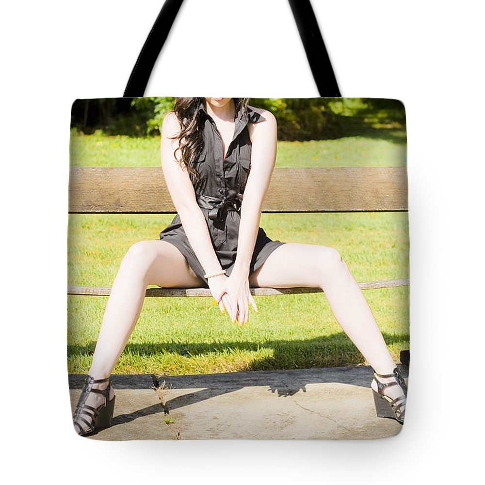 Bright Tote Bag featuring the photograph Model by Jorgo Photography - Wall Art Gallery