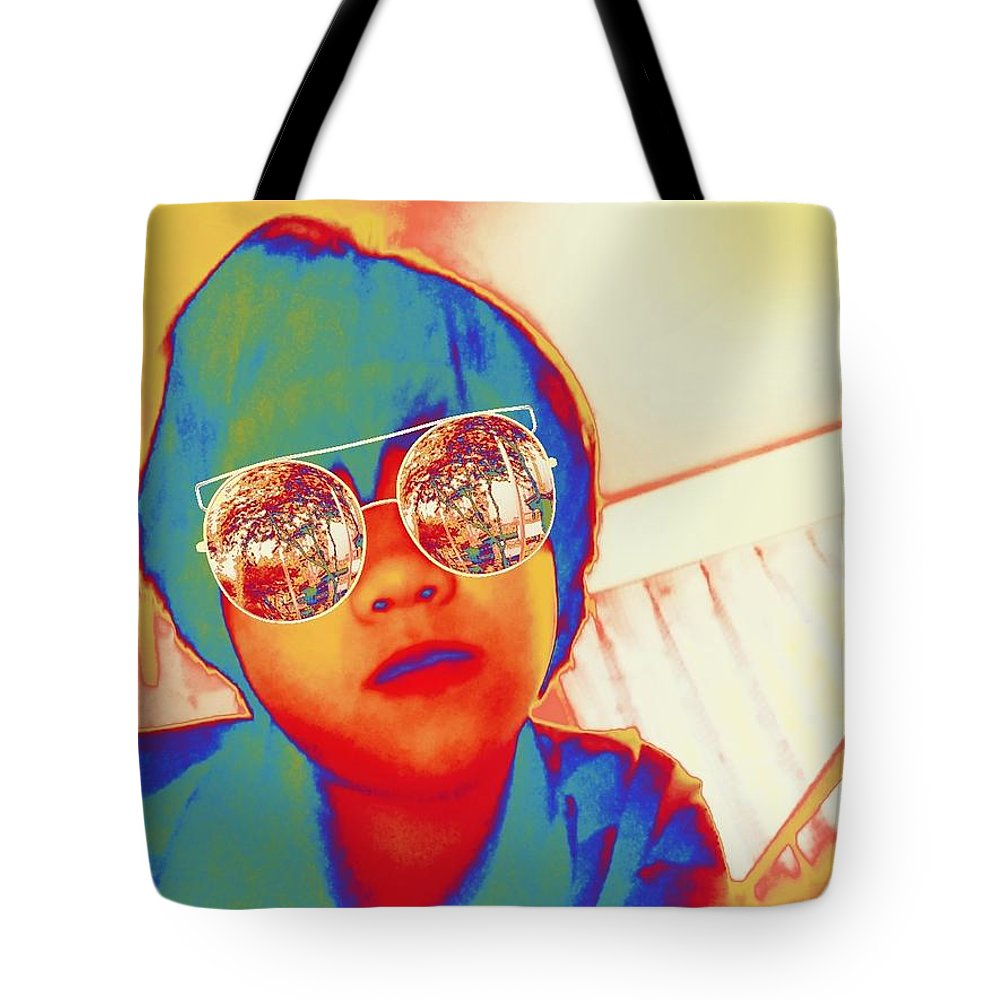 #model Tote Bag featuring the digital art Model by Sari Kurazusi