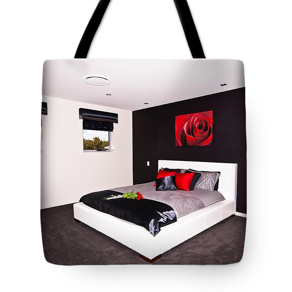 Modern Tote Bag featuring the photograph Modern Bedroom by Darren Burton