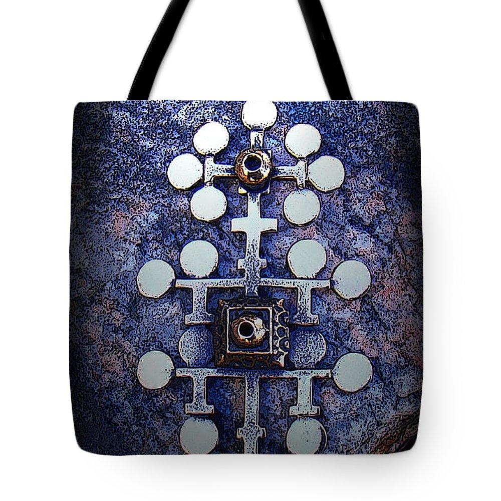 Sarpaneva Tote Bag featuring the photograph Modern Bronze Design by Merja Waters