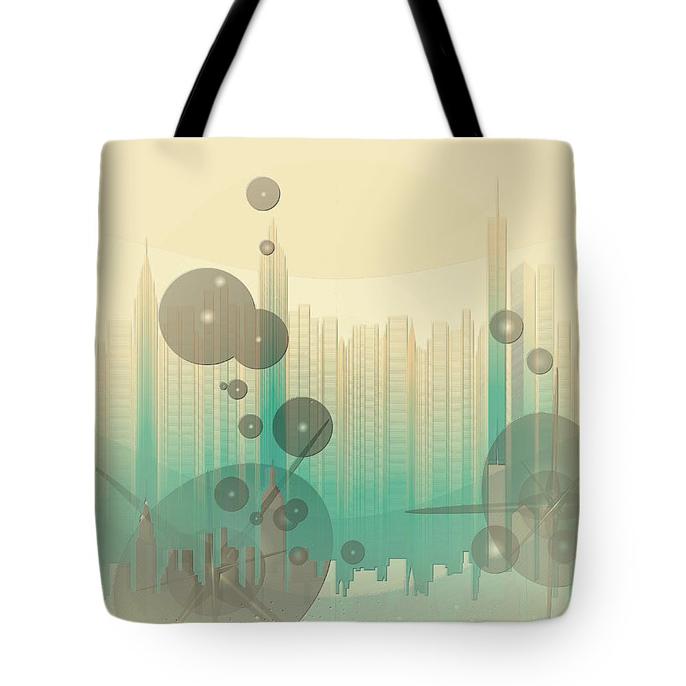 Modern City Abstract Tote Bag featuring the photograph Modern City Abstract by Robert G Kernodle